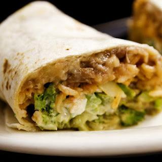 Mini Roasted Vegetable Burritos.
