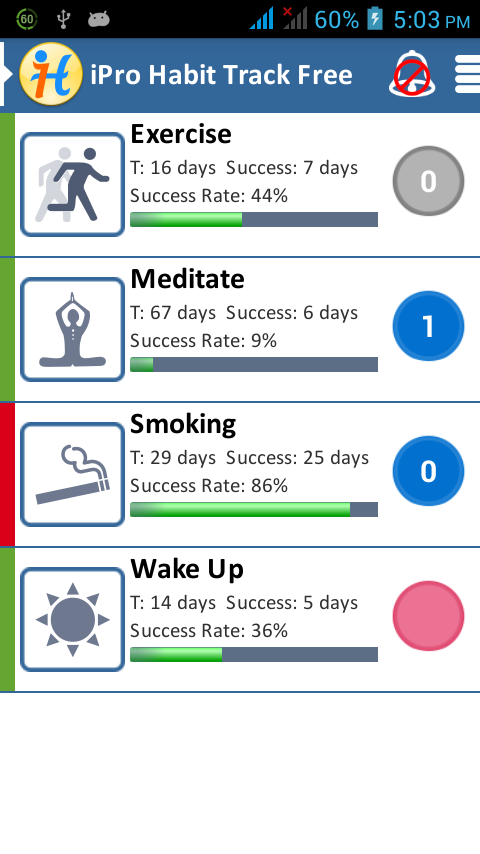 iPro Habit Tracker Free- screenshot