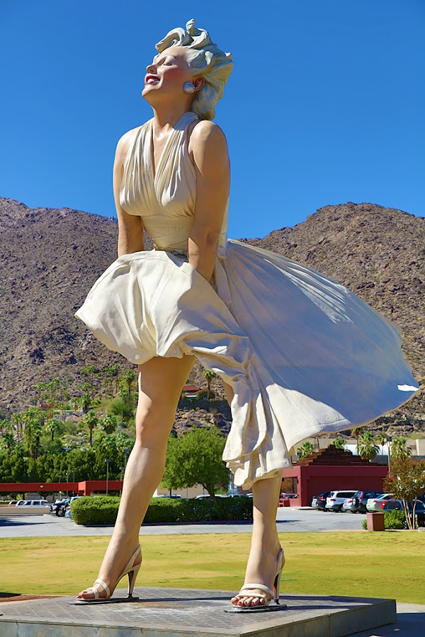 Marilyn Forever # 1 by Ryk Novaux - Buildings & Architecture Statues & Monuments