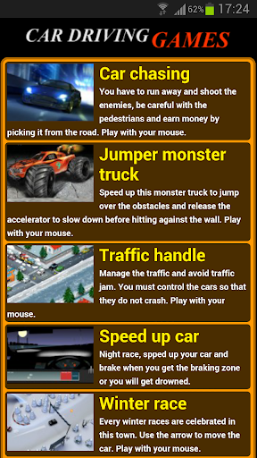 Car driving games