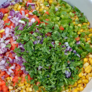 Cold Corn Salad with Some Heat.