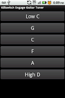 Screenshot of Killswitch Engage Guitar Tuner