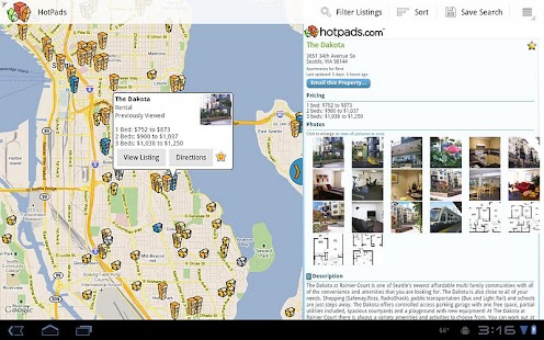 HotPads Real Estate Tablet App - screenshot thumbnail