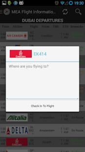 MEA Flight Information English - screenshot thumbnail