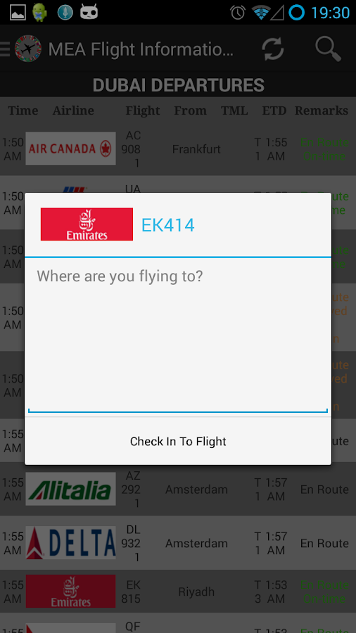 MEA Flight Information English- screenshot