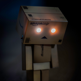 Danbo Searching in the Dark by Philip Cormack - Artistic Objects Toys ( amazon.co.jp, danbo, toy, danboard, sad face, robot, revoltech )