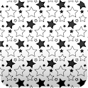 stars wallpaper white & black icon