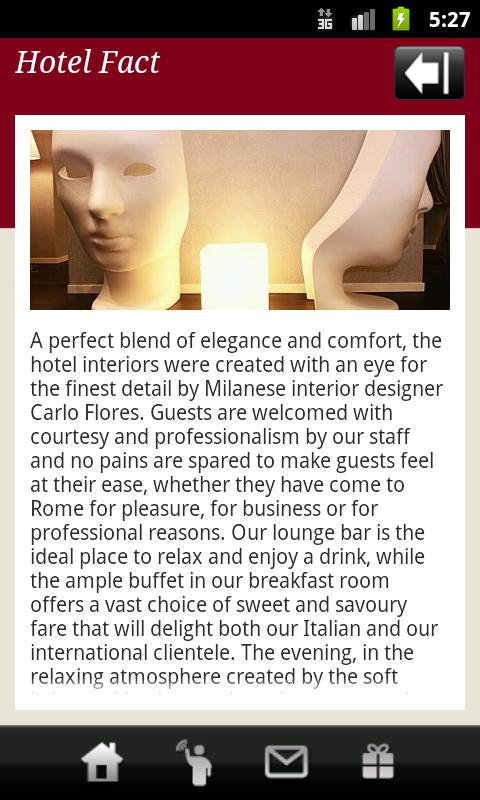 Fabio Massimo Design Hotel - screenshot
