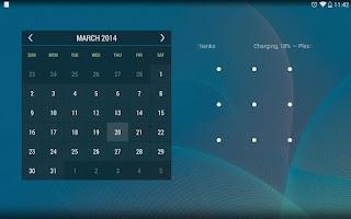 Screenshot of Calendar Widget KEY