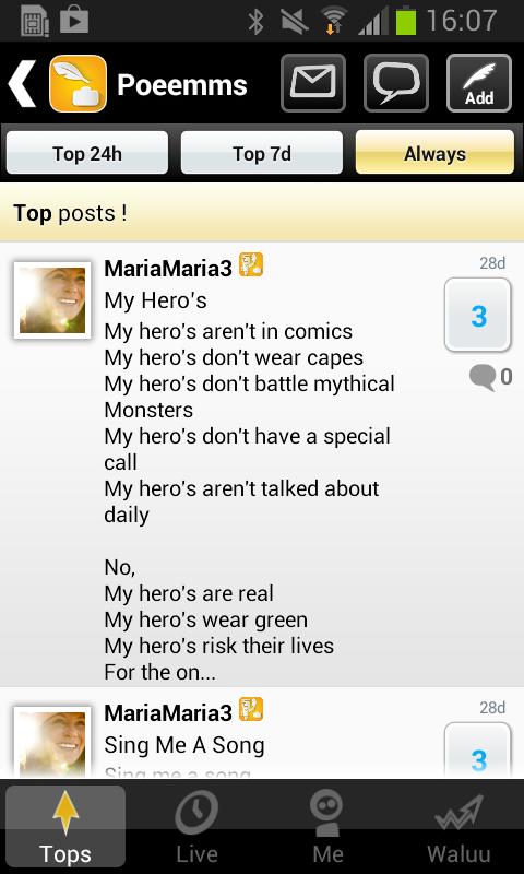 Poems: The community- screenshot