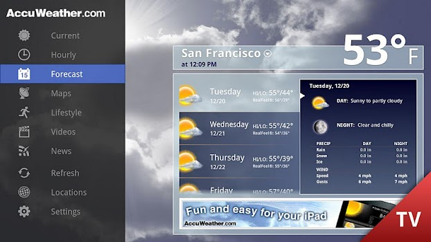 AccuWeather for Google TV