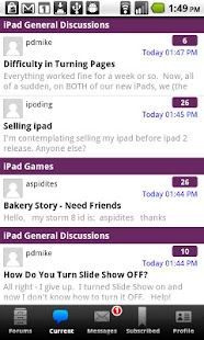 iPad Forums - screenshot thumbnail