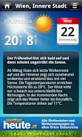 Screenshot of wetterheute.at Österreich