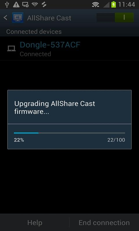 AllShareCast Dongle S/W Update - screenshot