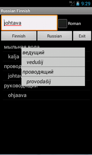 Finnish Russian Dictionary