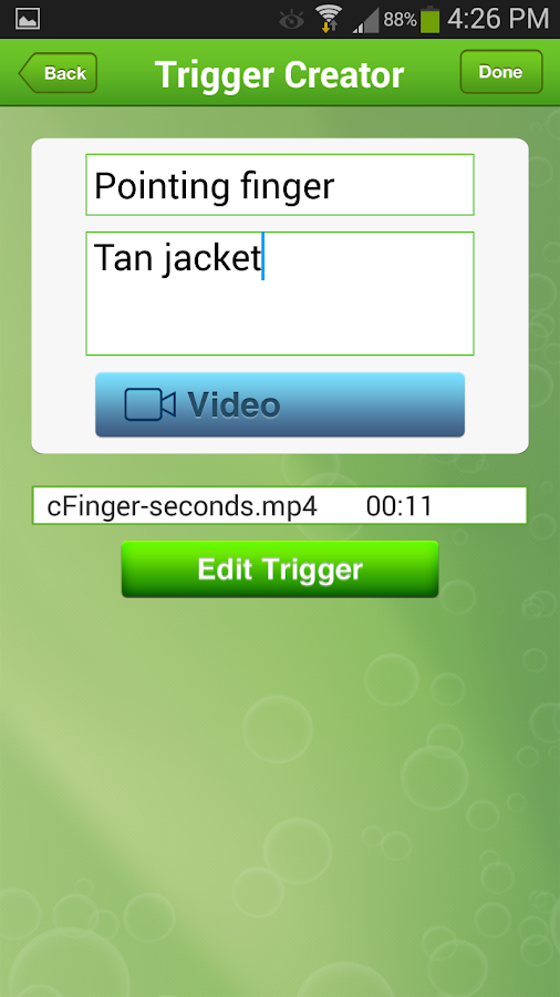 Dozier Visual Trigger Tamer – Screenshot