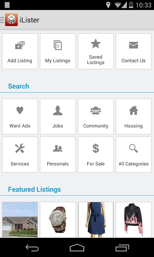 iLister Classified Advertising- screenshot