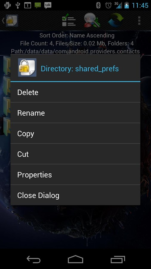 Shady File Manager (root) Free - screenshot