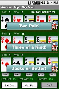 Awesome Triple Video Poker Pro - screenshot thumbnail