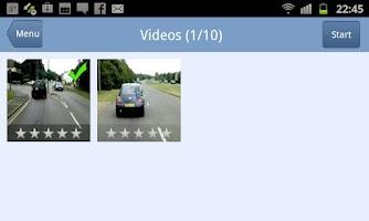 Screenshot of Hazard Perception Test