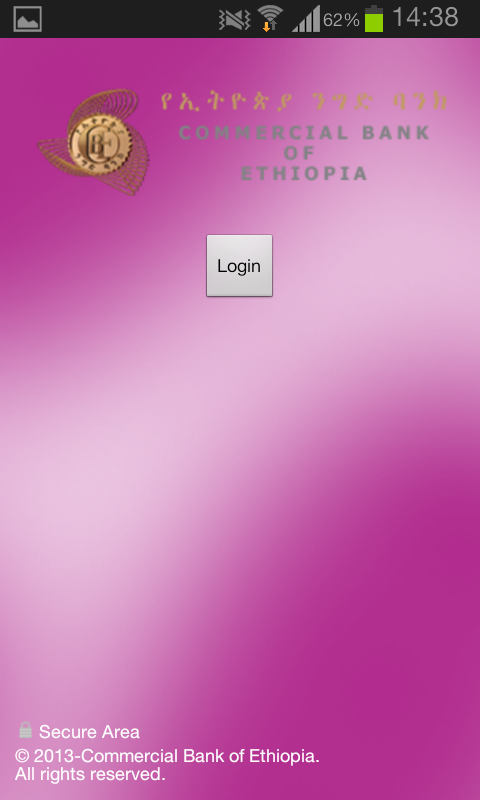 Commercial Bank of Ethiopia- screenshot
