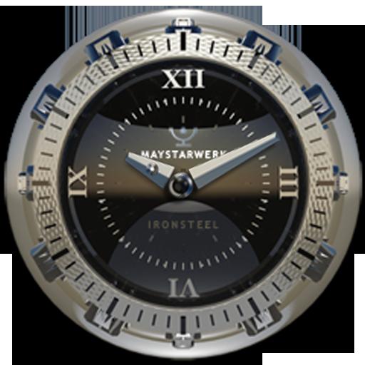 Clock Widget Iron Steel LOGO-APP點子