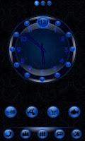 Screenshot of Sleek Blue Clock Widget