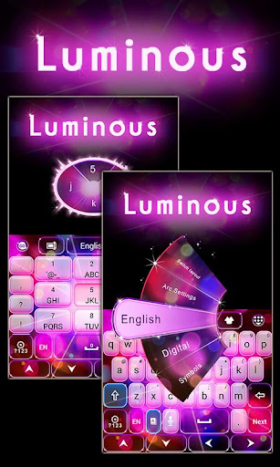 Luminous GO Keyboard Theme