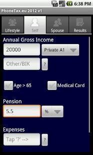 PhoneTax.eu Eire TaxCalc 2017- screenshot thumbnail
