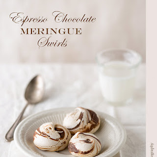 Chocolate Espresso Meringue Swirls