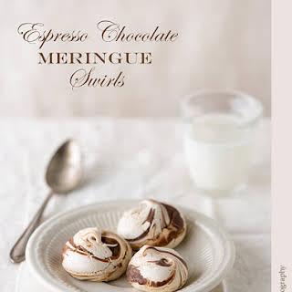 Chocolate Espresso Meringue Swirls.