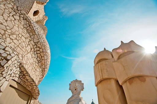 Tere-Moana-Barcelona-Gaudi - Take a Tere Moana cruise to Barcelona and check out the architecture at Casa Milà by Antoni Gaudí, Barcelona's most famous architect.