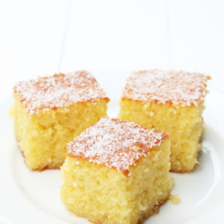 Coconut Ravani- Coconut Semolina Cake.