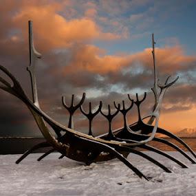 Sólfarið Reykjavík  (Sun Voyager) by Anna Guðmundsdóttir - Artistic Objects Other Objects ( reykjavík, sun voyager, iceland, sólfarið,  )