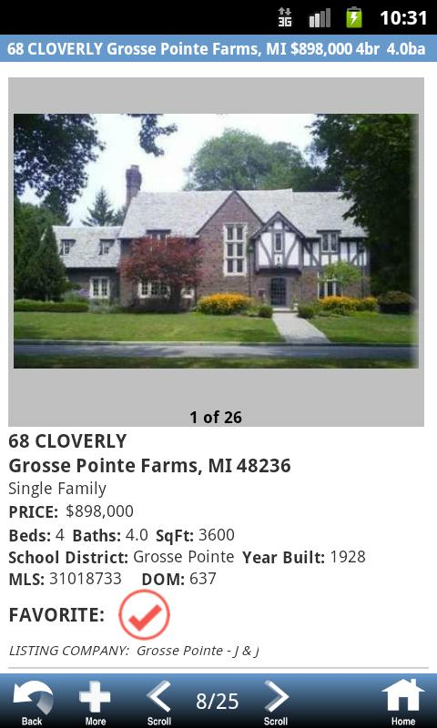 Michigan Real Estate Search - screenshot