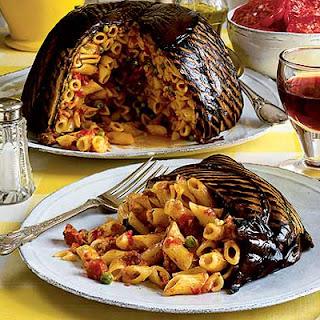 Pasta 'ncasciata (Aubergine wrapped pasta dome)