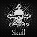 Black Skull Atom Theme icon