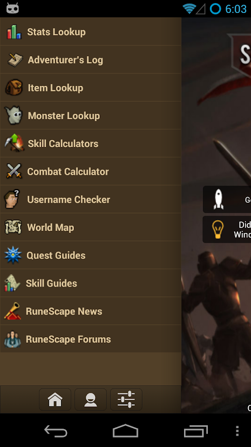 RuneScape SwiftKit Mobile- screenshot