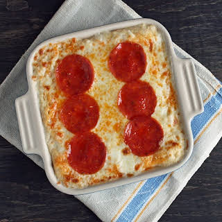 Pepperoni Pizza Cauliflower Casserole (Low Carb and Gluten Free).