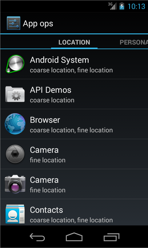 Permissions Manager Launcher - screenshot