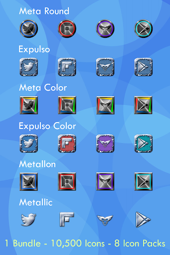 Metal 8 Icon Pack Bundle