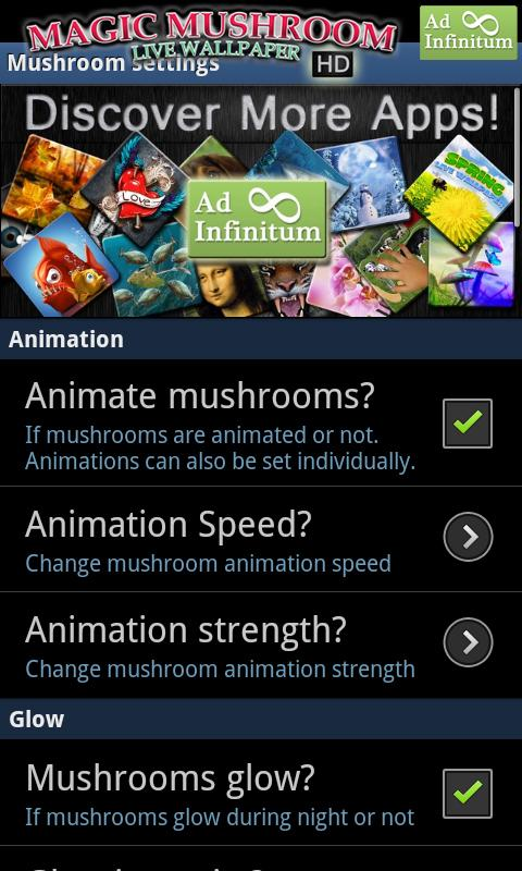 Magic Mushrooms LWP HD- screenshot