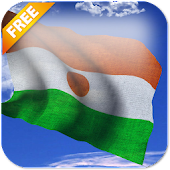 3D Niger Flag Live Wallpaper