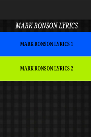 M. Ronson - Just The Lyrics