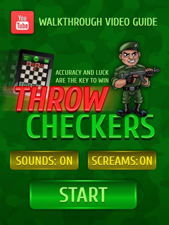 Throw checkers Lite- screenshot