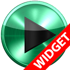 Poweramp widget MINT METAL icon