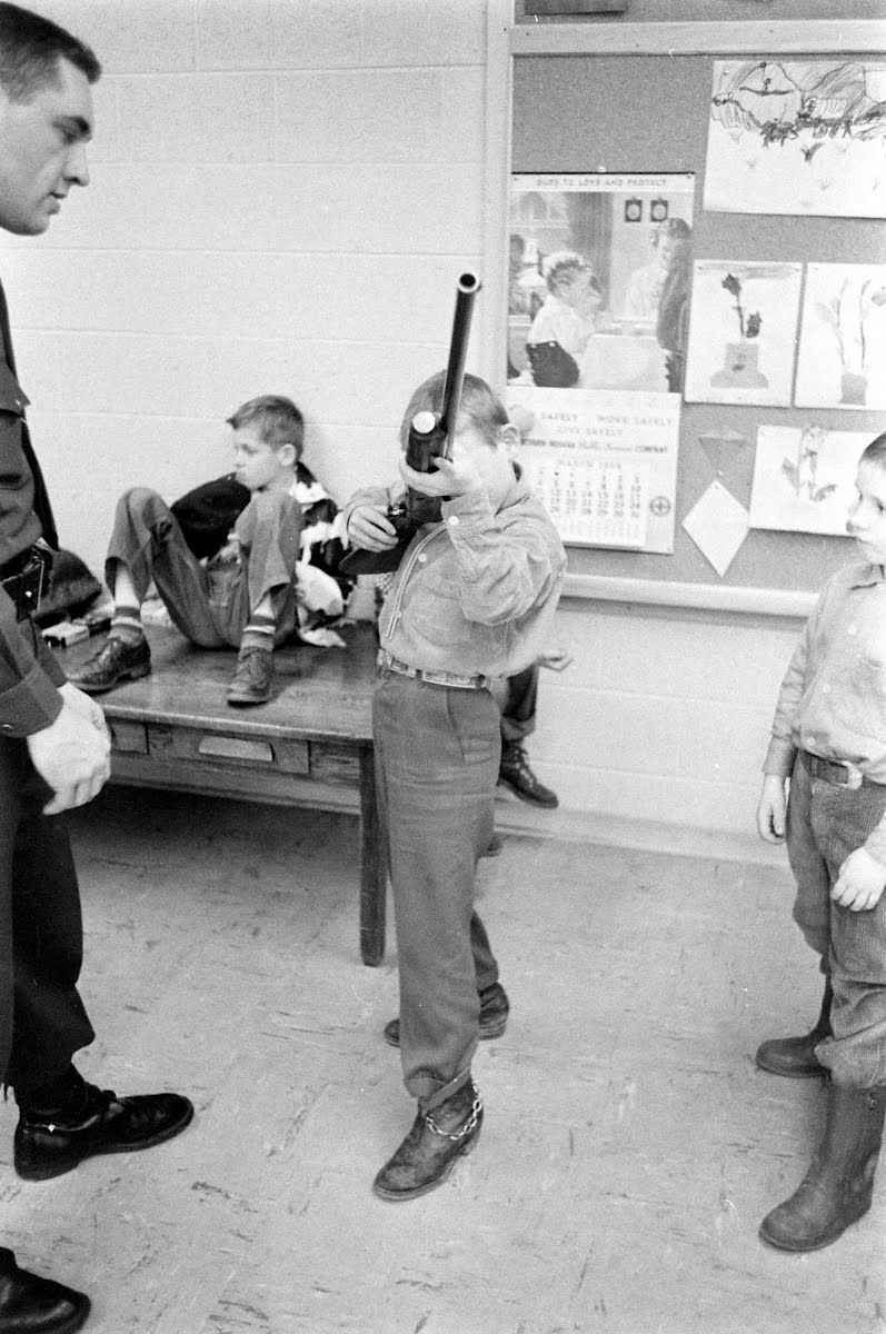 Indiana School Childrens' Class In Gun Safety.