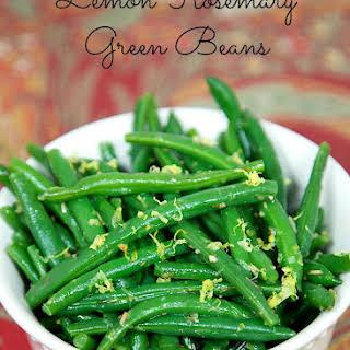 Lemon Rosemary Green Beans.