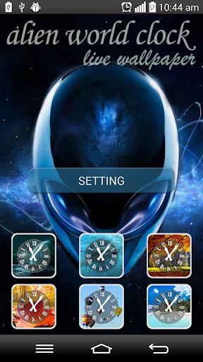 Alien World Clock LWP