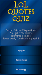 LoL Quotes Quiz - screenshot thumbnail